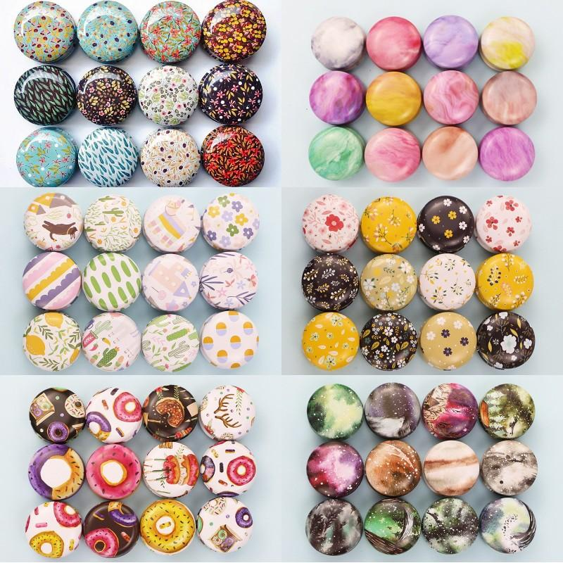Tinplate Candle Jar Empty Tin Can Donut Metal Handmade Aroma Candle Making Accessories Mini Box With Lid Small Home Decor 1319 V2