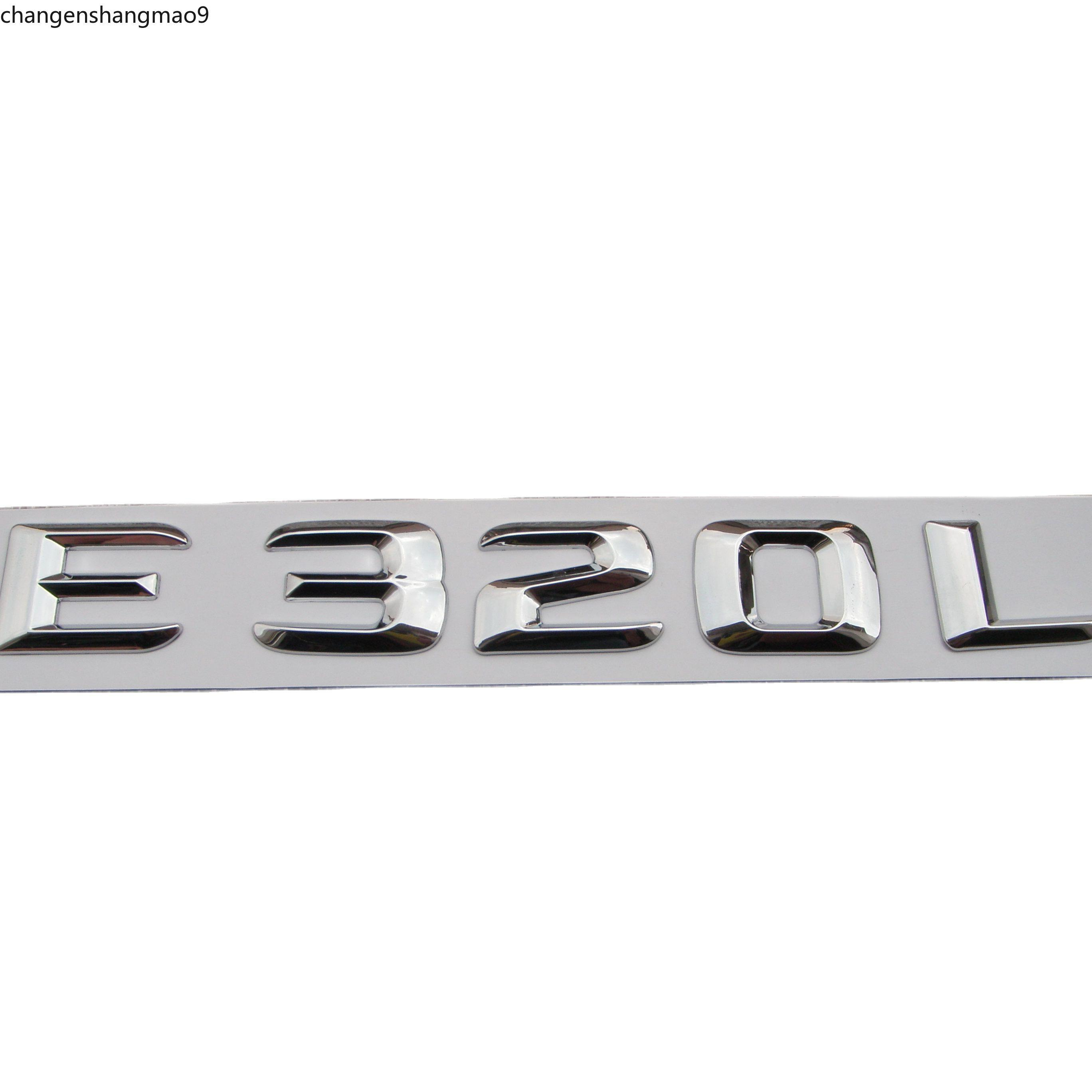 Chrome ABS Trunk Rear Letters Number Badge Emblem Decal Sticker for Mercedes Benz E Class E320L