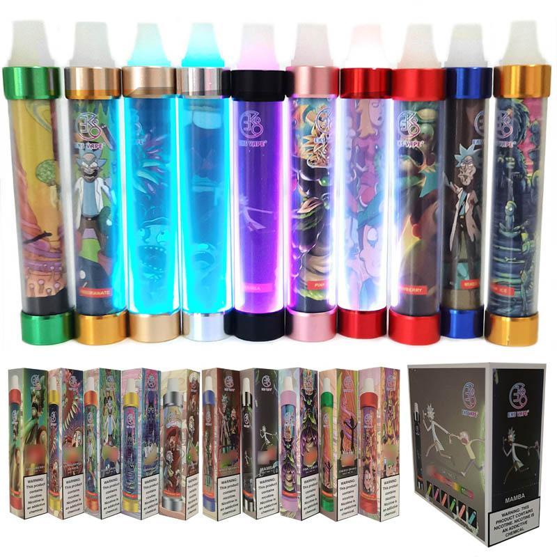 Alta qualidade em estoque Monstro eletrônico de cigarro descartável vape caneta LED luz kit de vapor e-cigarros vaporizer com padrão dos desenhos animados
