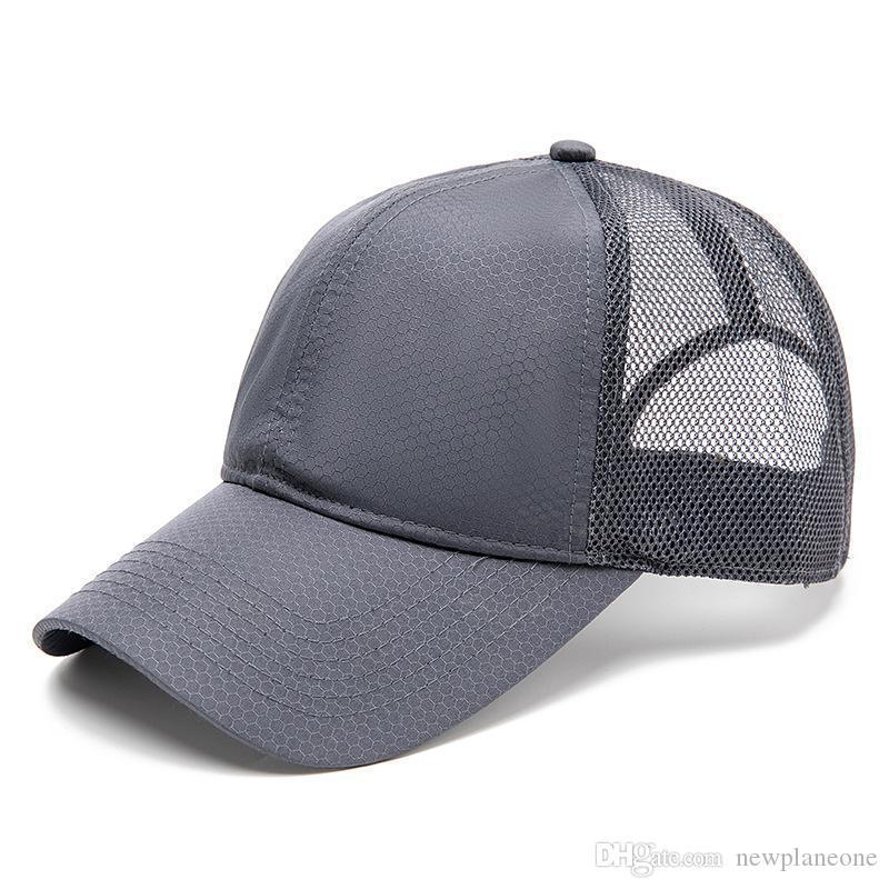 Big Head Circonference Cappello uomo estate Suntan è la ventilazione naturale Asciugatura rapida Cappello da baseball Cappello da baseball Semplice Cappello da sole all'aperto Cappello da sole
