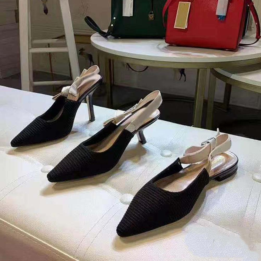 Avec la boîte! FASHOIN FEMME Chaussures Talons Femme Femme Femelle Trend Classics Elegant Strass Pionted Toes Robe Chaussures Chaussures02 01
