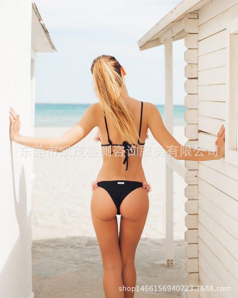 Bikini de playa sexy con traje de baño de cuello de corbata
