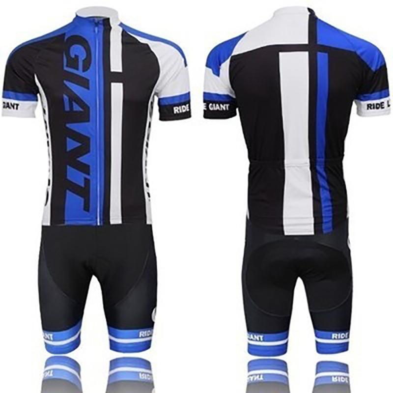 Racing Sets Cycling Jersey Short Sleeve Giant Bike Breathable Clothes Pants Suit Men Bicycle Outdoor Quick Drying Set