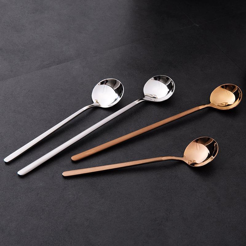 Spoons 1 pc 304 aço inoxidável de aço inoxidável colher café café misturando utensílios domésticos