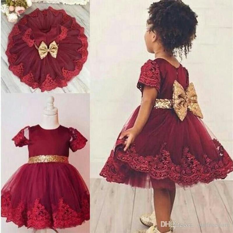 아이 의류 유아 아기 소녀에 대한 생일 축하 드레스 소녀 스팽글 공주 드레스 파티 침례 의류 0 1 2 년 vestido 소녀