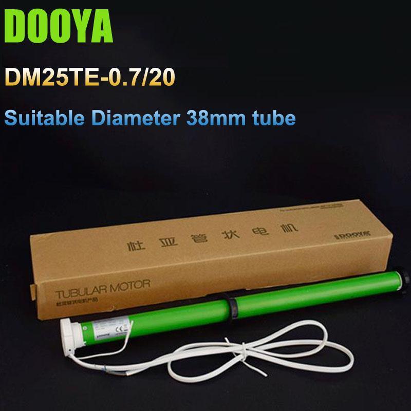 100-240V Original DOOYA DM25TE Tubular Motor With Install Brackets Suitable Diameter 38mm Tube For Roller Blind Zebra Blinds Smart Home Cont