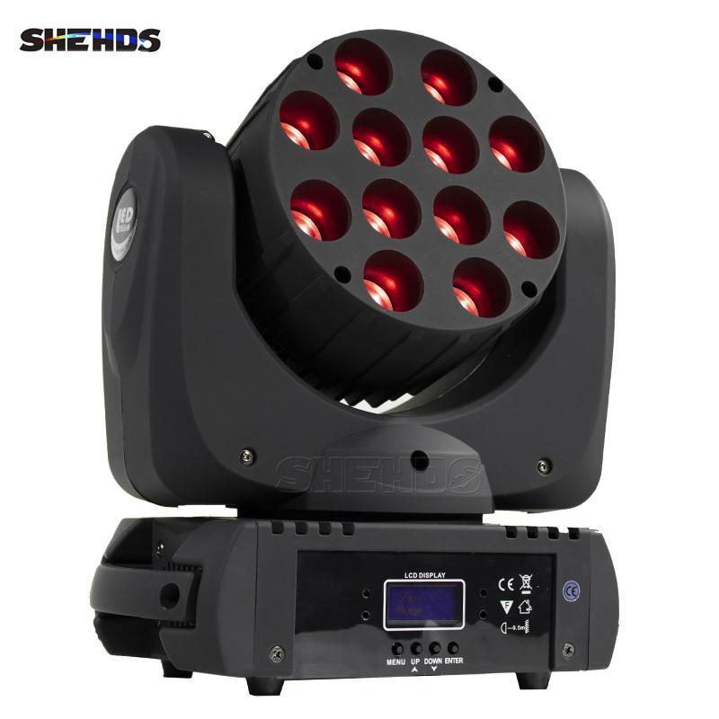 Shehds Entrega rápida de alta calidad DMX Cabeza móvil LED Haz 12x12W RGB Etapa profesional DJ Precio de fábrica
