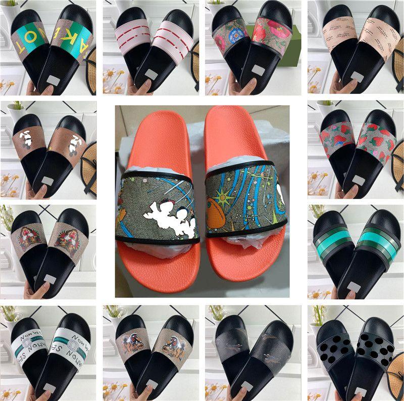 Moda Mujeres y Hombres Diapositivas Slippers Beach Sandalias Planas Playa Casa Flip Flaks Slipper Más Zapatos Color con Tamaño 35-46