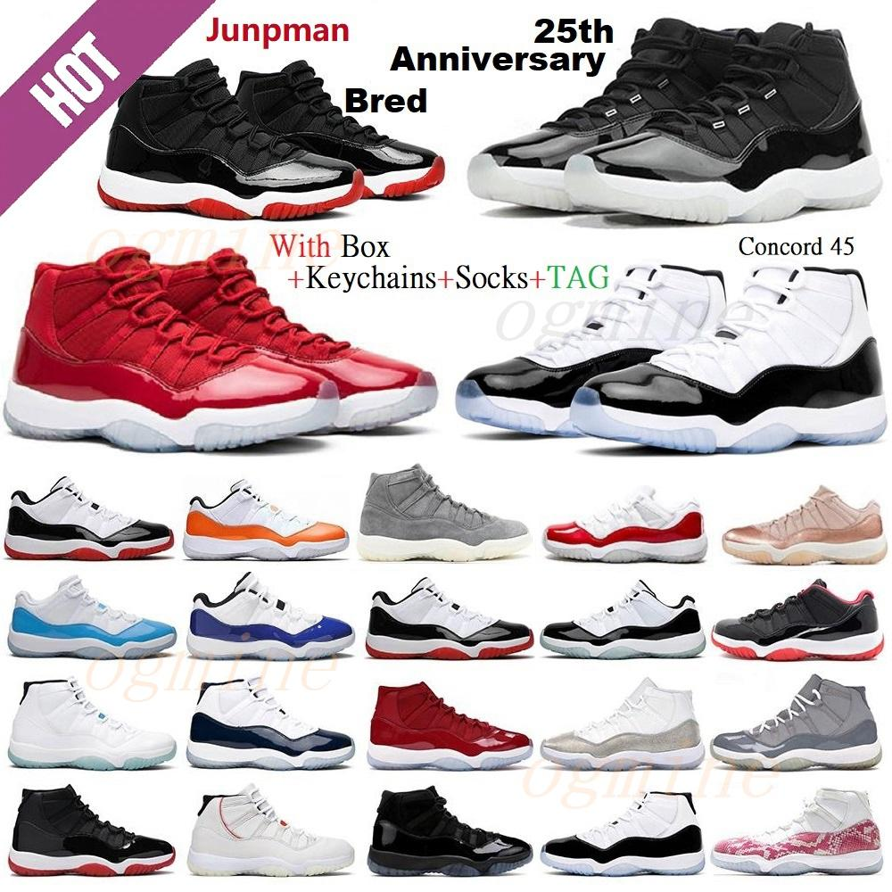 25th Anniversary air jordan jordans aj11 11 11s aj Jordon 11 11s Concord Bred HIGH Space Jam Mens Womens Basketball Shoes Cap Gown Gamma Blue Jumpman 23 Sneakers Trainers 6ad55