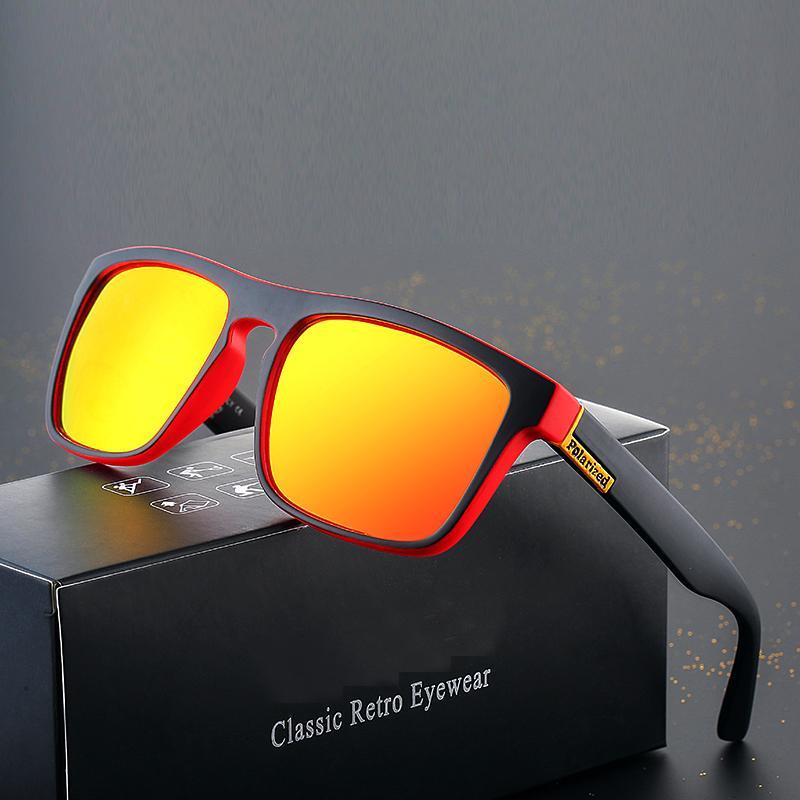 Gafas de sol polarizadas de gran tamaño Hombres Mujeres Deportes Plaza Plaza Gafas de sol para hombre Hombre Marca Diseño Sombras Oculos de Sol UV
