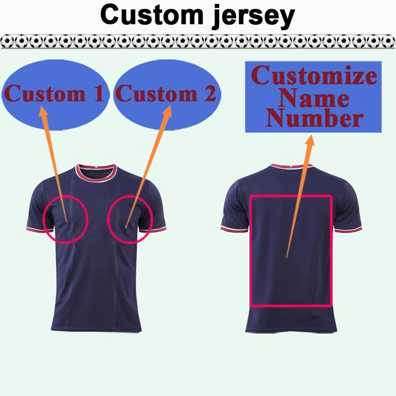 Custom National Team Club Hommes Soccer Jersey Top Vous pouvez personnaliser les chemises de football design et le numéro tels que 30 Hefei