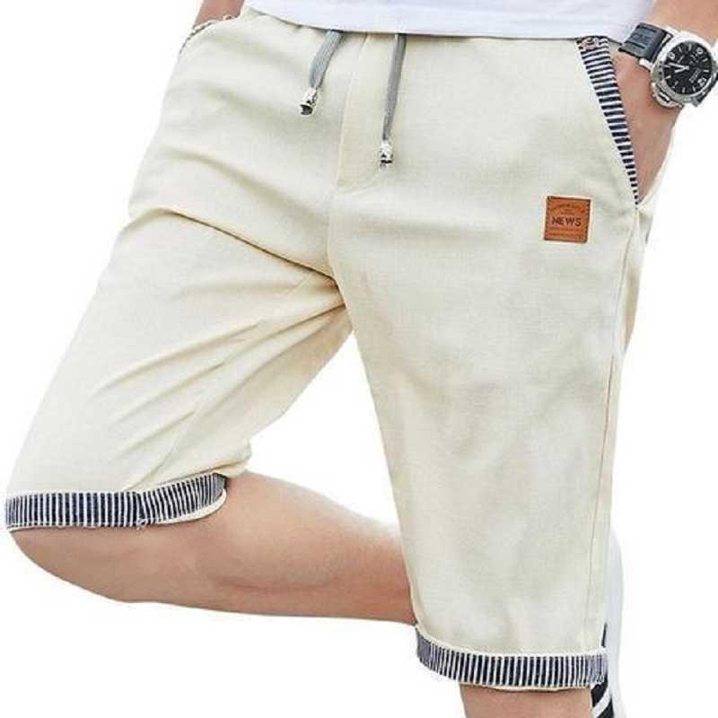 QIWN 2021 Promotion Summer Shorts Men's Cotton Casual Five-Point Youth Thin Trendy Big Pants Beach Breeches X0601