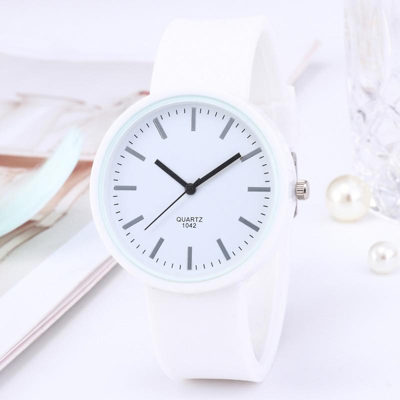 Wristwatches Fashion Women Watches White Jelly Silicone Watch Casual Ladies Quartz Zegarek Damski