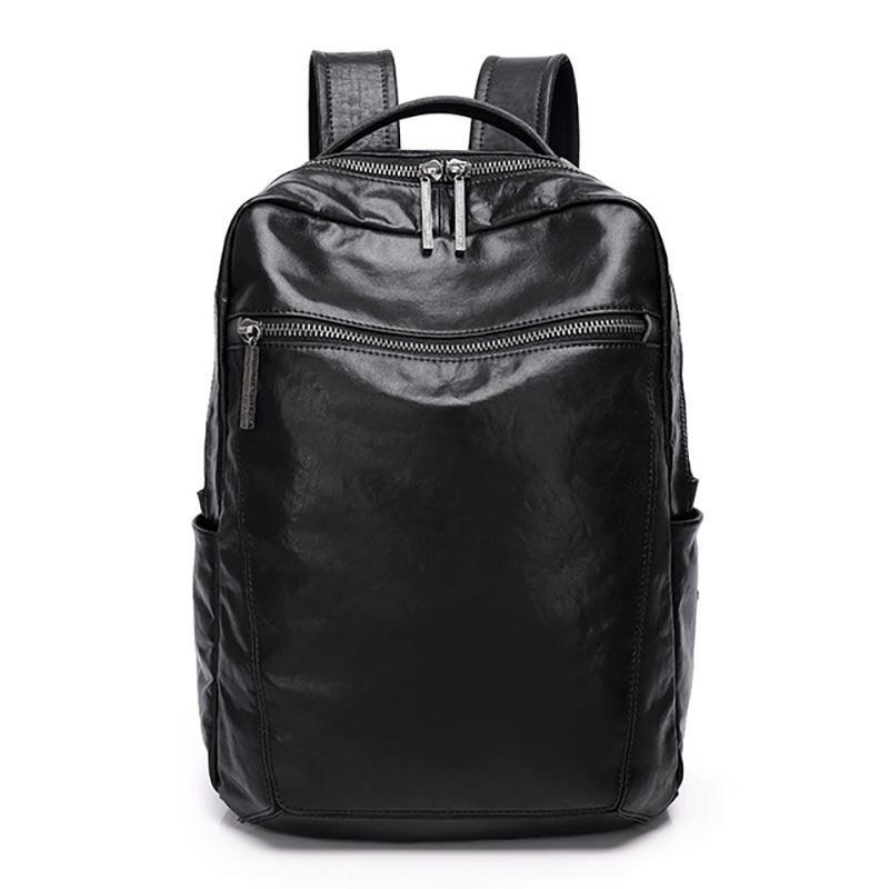 Backpack AETOO Fashionable High-capacity Two-shoulder Computer Bag, Vegetable Tanned Leather Backpack, Soft And Delicate