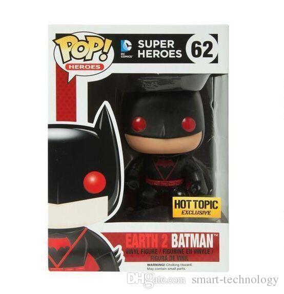 جديد funko pop سوبر أبطال الأرض باتمان pvc عمل الشكل لعبة هدية عيد الميلاد للأطفال شحن مجاني