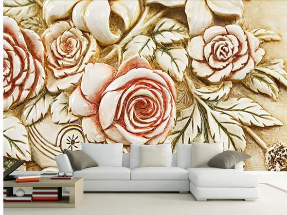 Wallpaper mural wallpaper Continental embossed flowers 3D wallpaper mural wall sticker wallpaper papel de parede2015653