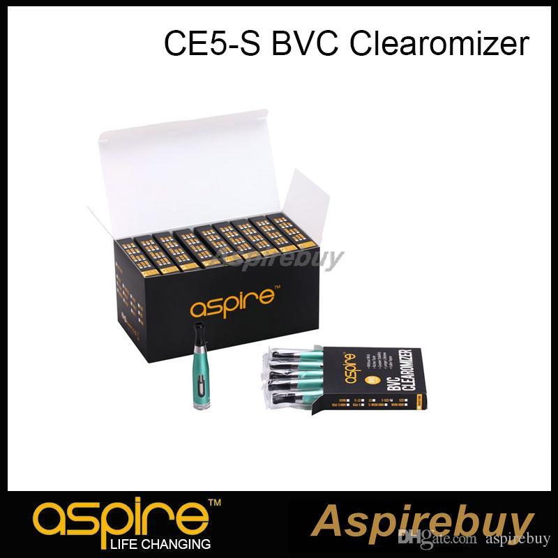 Aspire CE5-S BVC Clearomizer 100% autentico Aspire CE5S BVC E Sigaretta elettronica eGo Atomizzatori 1,8 ml CE5S Vaporizzatore con bobine BVC