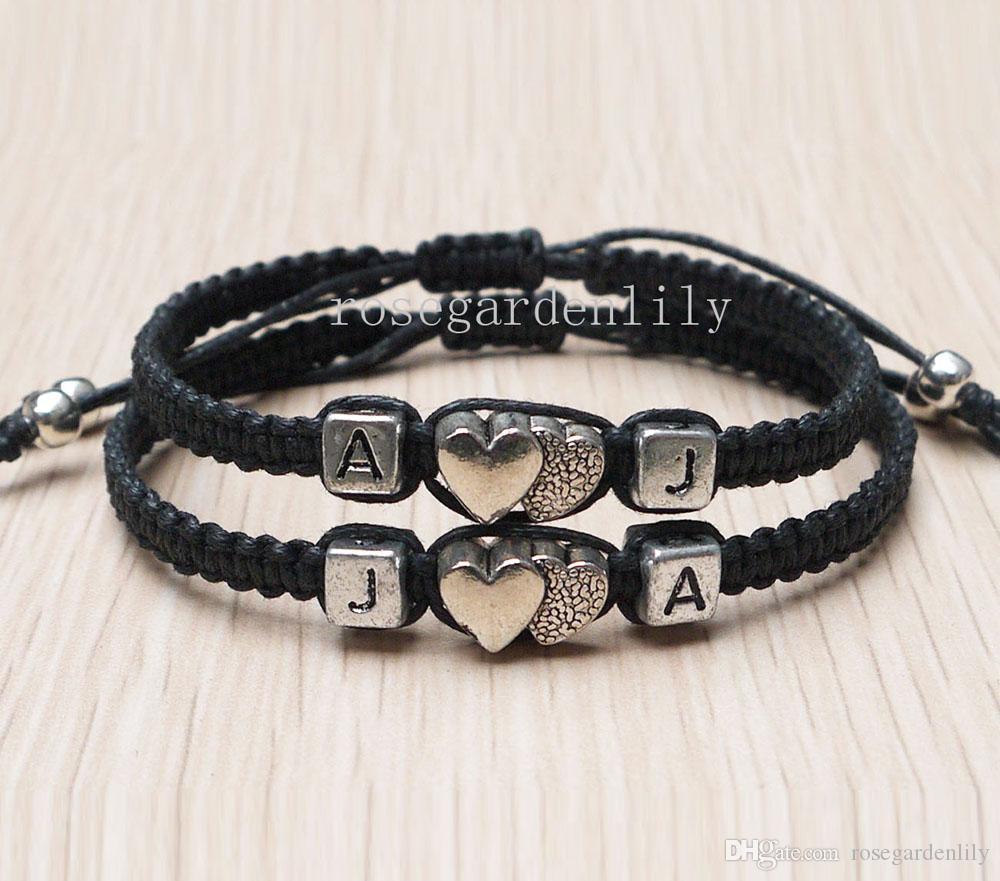 Wholesale Handmade Initials Bracelet,Initials Couples Bracelet ...