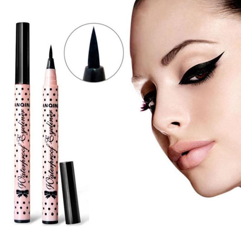 Schwarzer Eyeliner-Stift, wasserdichter, lang anhaltender, flüssiger Make-up-Eyeliner-Stift, Hot Lady Cosmetics For Eyes