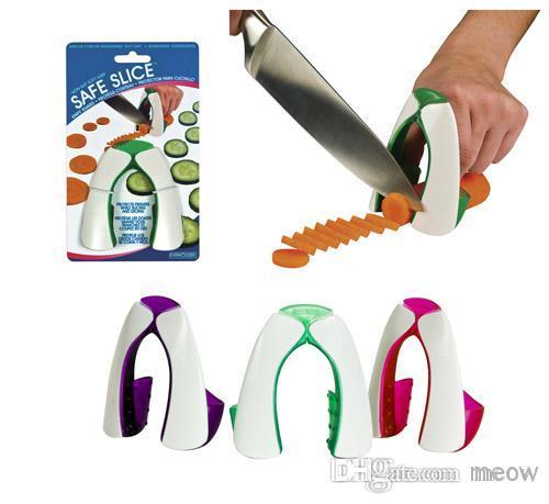 Sichere Küche Handwerk Rutschfeste Soft Grip Fingerschutzfolie Schneiden Scheibe Gemüse Schutz 120 teile / los
