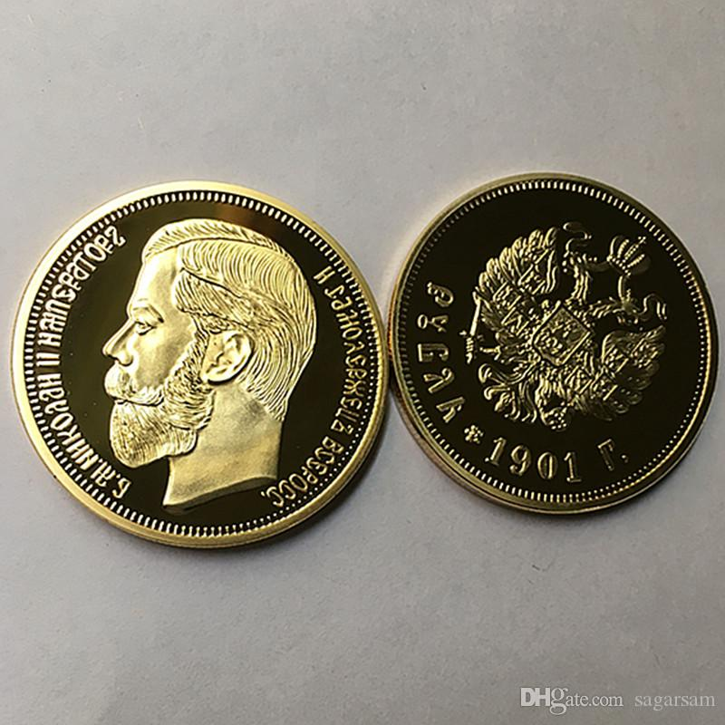 2019 The Brand New 1901 Nicholas II Of Russia Coins Commemorative 24K Real  Gold Plated 40 Mm Souvenir Coin From Sagarsam, $25 13   DHgate Com