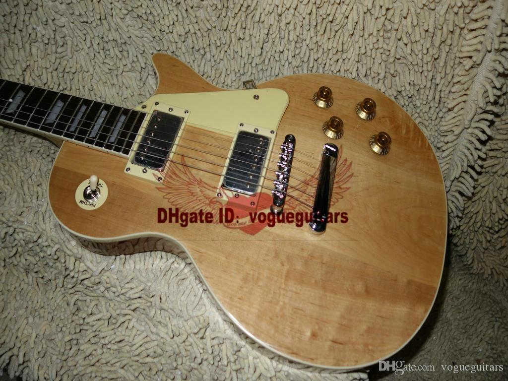 New Arrival Custom guitar Natural color Electric Guitar One Piece Neck Wholesale Guitars HOT Free shipping