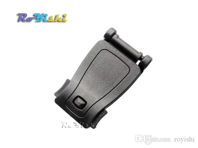 25 unids / lote correa de hebillas de plástico negro Clip Belt Keeper para Molle Bag Camp Hiking