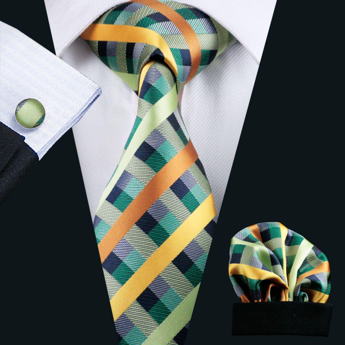 متعددة المشارب رجل الرقبة التعادل مجموعة التلبيب و منديل الأزياء الحرير الجاكار برقبة العلاقات ربطة العنق woben للرجال N-0218