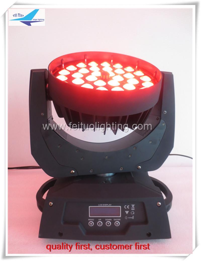 (2 개의 등 / 비행로 케이스) 36x15w 1 in 1 moving head led light, led zoom 줌 헤드 이동 rgbwa moving head