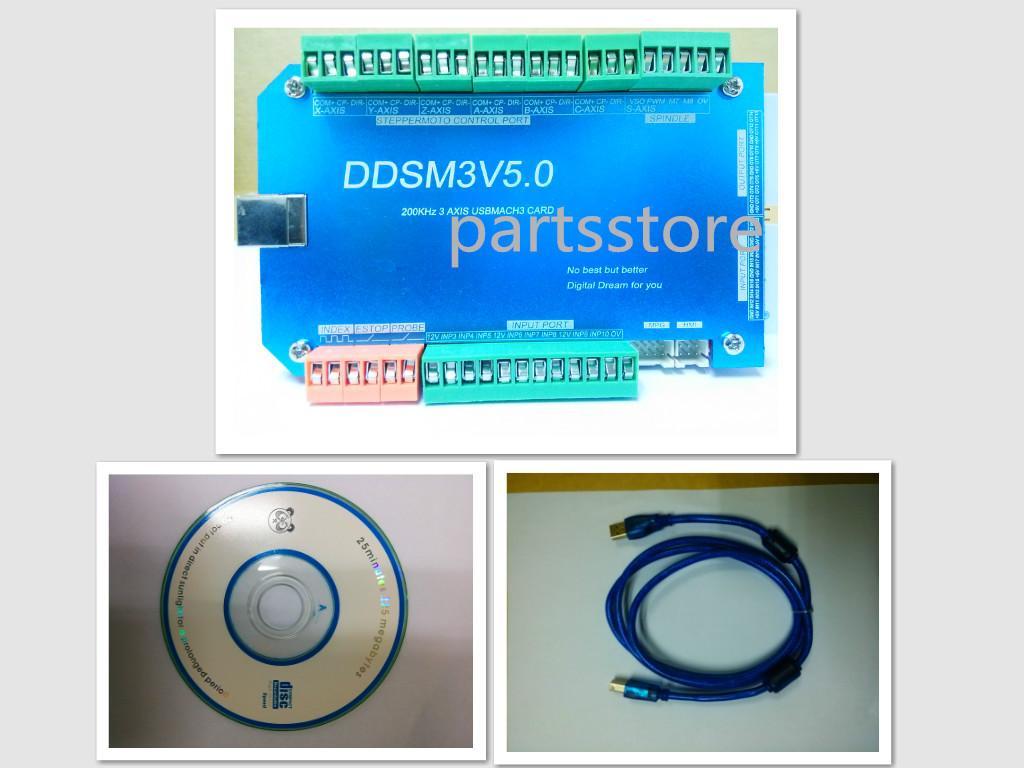 200 кГц CNC маршрутизатор 3Axis USBMACH3 интерфейс платы контроллера для шагового двигателя контроллер