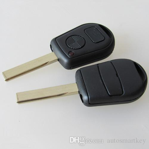 Car Key 2 Button Replacement Remote Key Case Shell For Bmw E31 E32 E34 E36 E38 E39 E46 Z3 Fob Uncut Key Case Car Keys With Chips Replacement Car