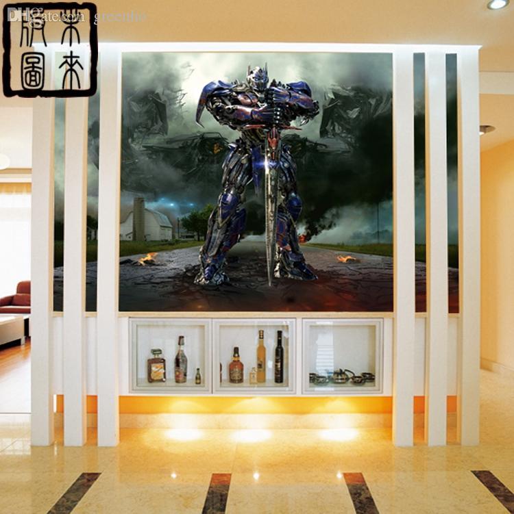 Großhandel Transformers Wallpaper 3d Ansicht Tapete Optimus Prime  Fototapete Individuelle Film Raum Dekor Kind Raum Große Wandkunst  Schlafzimmer ...