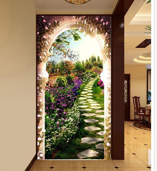 Large mural papel de parede After the garden corridor wall sticker wholesale Factory Direct FREE SHIPPING7540k