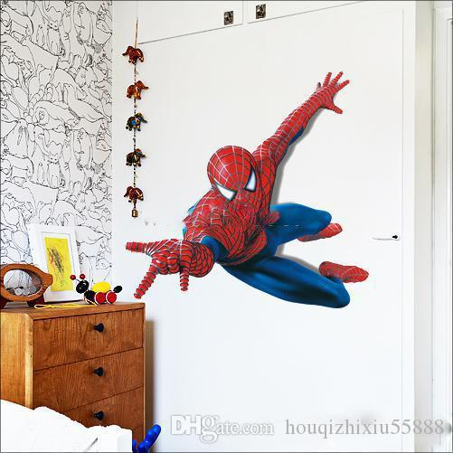 ... Large PVC Cartoon Spiderman Baby Wall Stickers For Kids Nursery Rooms  Decorative Wall Decal Paper Lego ... Part 96