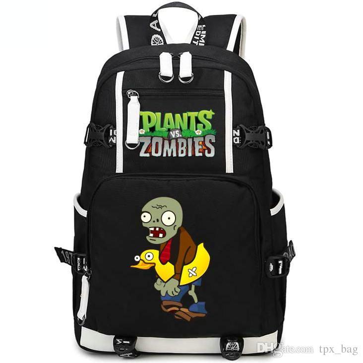 Ducky tube 좀비 백팩 vs 적 데이 팟츠 PVZ schoolbag Game rucksack 스포츠 스쿨 가방 야외 데이 팩