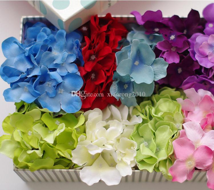 """Dia 15 cm / 5,91 """"Künstliche Simulation Hortensien Blütenköpfe für DIY Braut Brautjungfern Handgelenk Blumen Bouquet Hochzeit Liefert"""