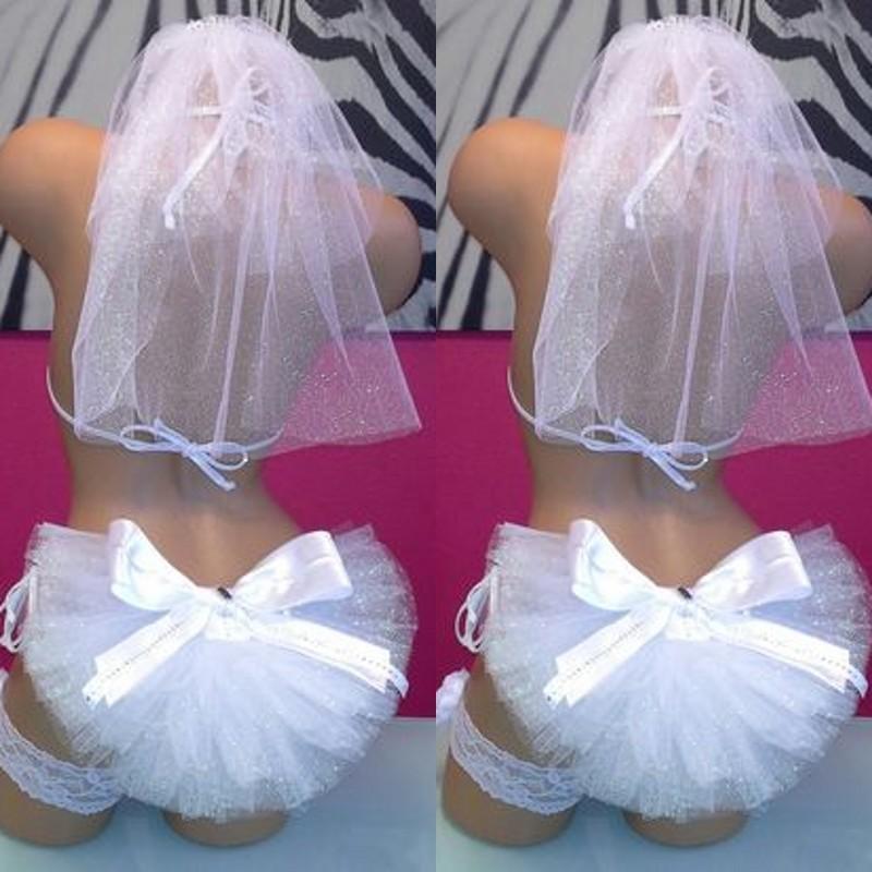Hot Selling Bikini Veils 2019 Formal Summer Booty Veils Free Shipping Bridal Accessory Custom Made White Ivory Beach Accessory Booty Veils