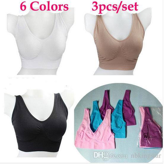30pcs (10bags) 원활한 스포츠 브래지어 패션 섹시 솔리드 브래지어 요가 AHH 브래지어 6 색상