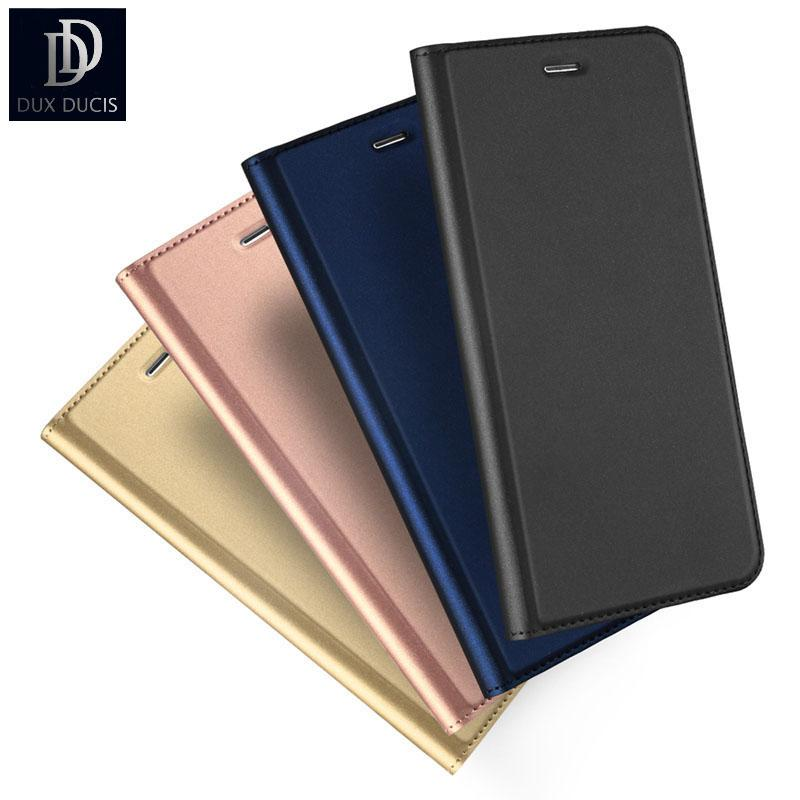 Dux Dusic Estuche de cuero de PU de cierre magnético de moda para Iphone 5 5s Se 5se 5g Funda de teléfono plegable ultra delgada con tapa de libro