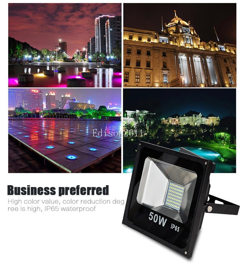 Free DHL SMD 5730 50W Waterproof IP65 Floodlight Landscape Lamp White LED Flood Light Outdoor LED Flood Lamp 240V