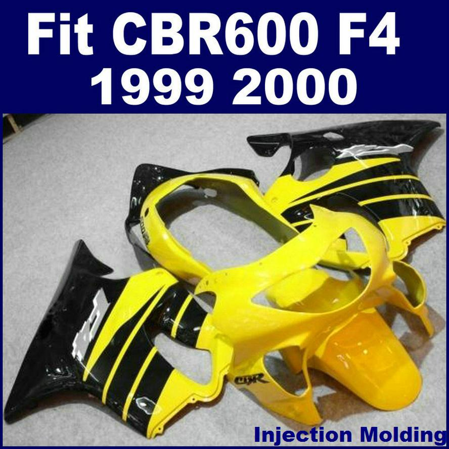 Injection molding for HONDA body repair parts fairings CBR 600 F4 1999 2000 yellow 99 00 cbr 600 f4 custom fairing BNJY