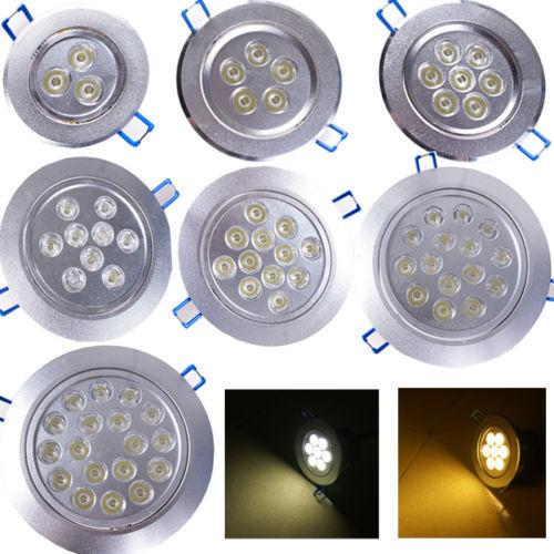 Hohe Qualität 3 Watt 4 Watt 5 Watt 7 Watt 9 Watt 15 Watt 18 Watt LED Deckeneinbau Downlight Spot Lampe Lampe Licht AC 85-265 V Indoor Downlight Mit LED Treiber