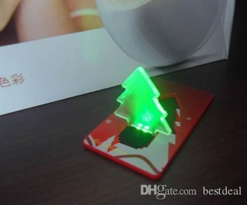LED Glühbirne Kartentasche Weihnachtsbaum Glühbirne Portable Größe Weihnachtskarte Schalter Karte scharfe Kredit