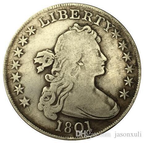 1801 Draped Bust Dollar 코인 복사본 무료 배송
