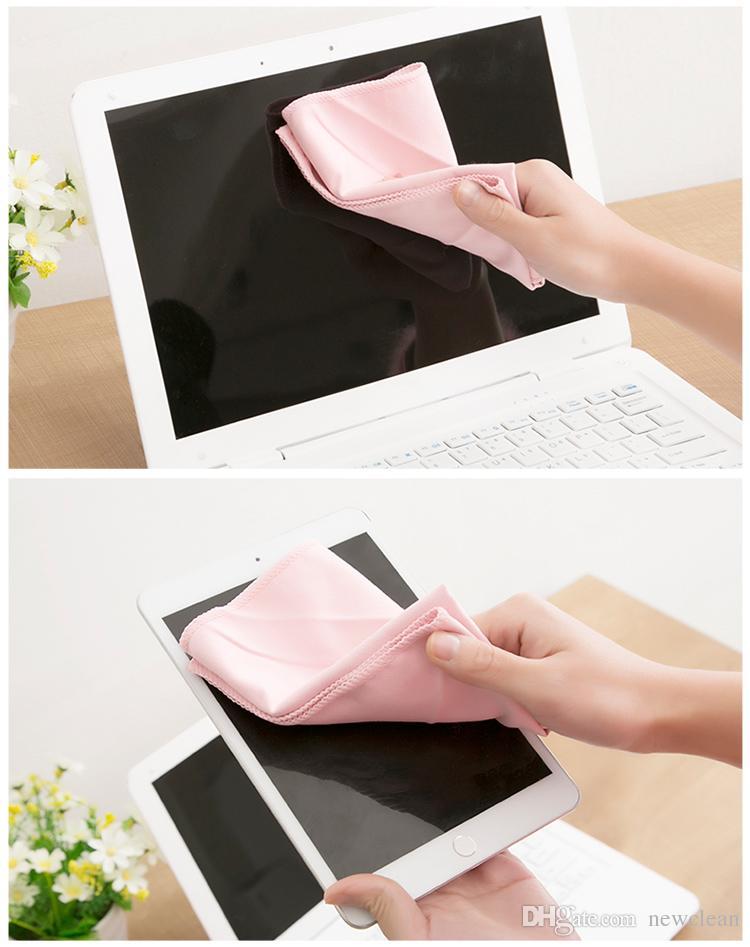 20PCS 30x30cm ستوكات من جلد الغزال القماش لتنظيف شاشة LCD ممسحة فون الملابس مجهرية زجاج تنظيف منشفة نافذة تنظيف القماش