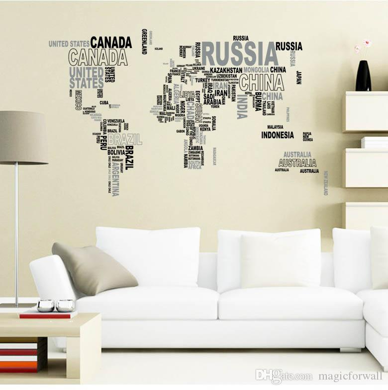 Removable Letter World Map Decal Art Mural Home Decor Wall Stickers on map facebook covers, map wall mirror, map wall artwork, west point decal, diamond window decal, map wallpaper, wrench decal, map wall graphics, pirate life decal, map wall clock, trd hood decal, map paper, map united states football league, map wall mural, map your neighborhood, map with title, map shirt, nautical compass decal, wwp decal, map kashmir conflict,