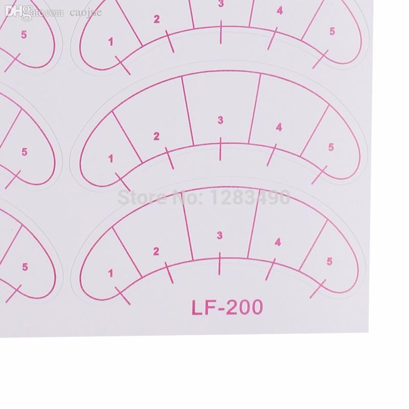 Groothandel-70pairs Slik Lint Gratis oogliften Wimper Extension Patch Under Eye Pad Paper Traning Patch