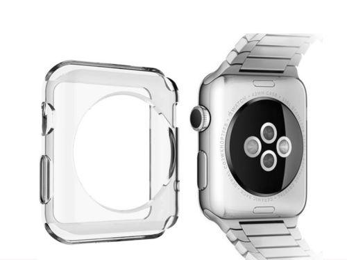 Transparent Soft Slim TPU Protection Silicone Case Cover for Apple Smart Watch 42MM / 38MM , Free Shipping