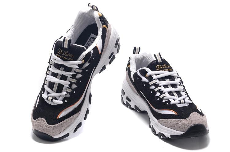 Wholesale Cheap Skechers Women Men'S D'Lites Extreme Sneaker Increasing Height Black White Gold Fashion Shoes For Girls Boys Size 35 39 Mens Sandals