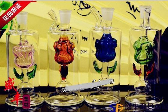 送料無料Wholesale Hookah  - ガラス製Hookah Small Pot [37#ローズ、バラエティ、カラー、スタイルのランダム配信
